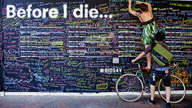 Before I Die: A Global Ethnography of Anonymous Aspirations in Chalk and Public Space | Brain Pickings