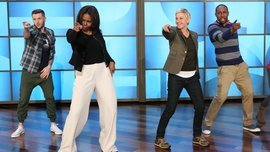 "Watch Michelle Obama Dance With Ellen DeGeneres to ""Uptown Funk"" - Hollywood Reporter"