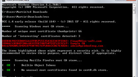 Scan your Windows computer for untrusted root certificates