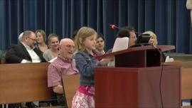Fourth grader delivers emphatic speech in front of school board