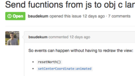 Send functions from JS to ObjC land