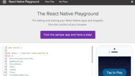 React Native Playground Updates
