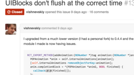 UIBlocks don't flush at the correct time