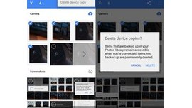 Free up space on Android using Google's Photos application