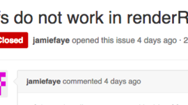 refs do not work in renderRow functions