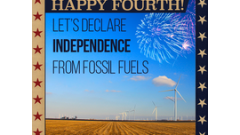 #4 Today we celebrate how our forefathers declared... - League of Conservation Voters