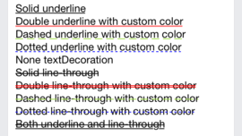 Text - add textDecoration style attributes by pcottle and KJlmfe