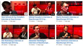 ReactEurope interviews by rangle.io (YouTube Videos)