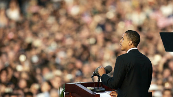 Comparing Obama's and Romney's speech styles and the way their audiences react