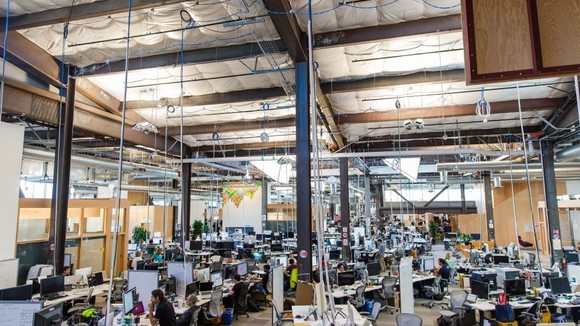 What these photos of Facebook's new headquarters say about the future of work