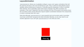 LayoutAnimation support for Android RN