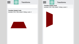 Add rotateX and rotateY transforms to Android Views