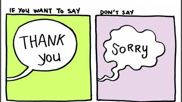 Why You Should Say 'Thank You' instead of 'Sorry'