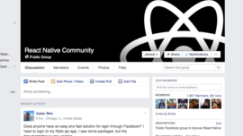 React Native Community - Public Facebook Group