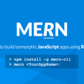 MERN — Easiest way to build isomorphic JavaScript apps using React and Redux.
