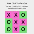 Pure CSS Tic Tac Toe!