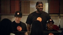 LeBron James Surprises Customers at Blaze Pizza