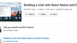 Building a chat with React Native and Elixir Phoenix (Youtube)