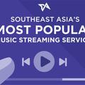 [英] Southeast Asia most popular music streaming services infographic