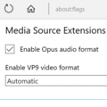 WebM, VP9 and Opus Support in Microsoft Edge