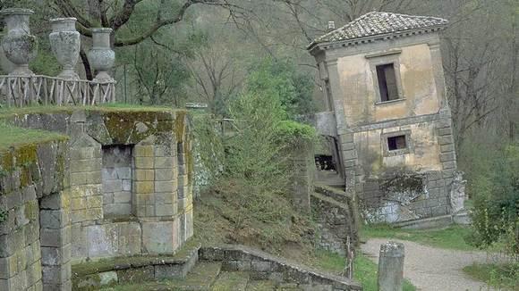 Het heilige bos van Bomarzo in Viterbo