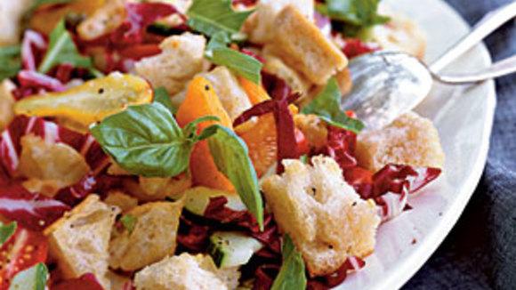 En omdat het zulk mooi weer is, nog maar een salade, ditmaal uit Toscane