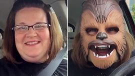 Woman laughing in Chewbacca mask sets Internet on fire - TODAY.com