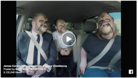 James Corden gives Chewbacca mask mom a Star Wars surprise