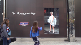 Stare Too Long at Snickers' Marilyn Billboard