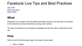 Facebook live tips and best practices