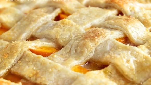 Gebak met perziken en amaretti koekjes - Italië met Dolcevia.com