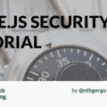 Node Hero - Node.js Security Tutorial | @RisingStack