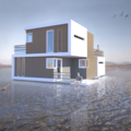 Floating House Can Be Split In Two If A Marriage Goes South