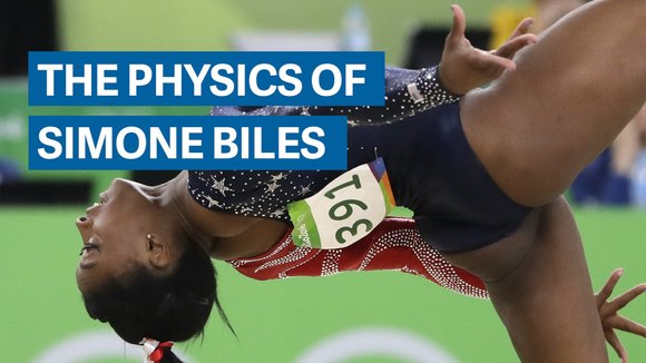 Breaking down the physics behind Simone Biles' gymnastics