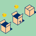 Ducks in Boxes by Chris Gannon