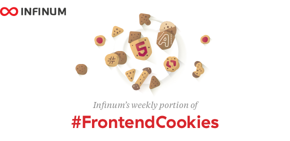 Logo for Infinum #FrontendCookies - weekly dev newsletter